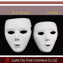 Hip-hopBboy abbaWockeeZ full face PVC plain costume party cosplay dance white halloween mask