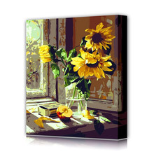 Hot sale abstract sunflower oil painting by number set 40*50cm