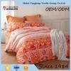 60s Sateen apricot bedding set bed linen Euro bed linen Chinese bedding set bed cover set China supplier