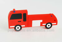 fire truck usb flash driver for gift promotion fire truck shape