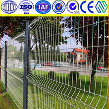 Hot dipped Galvanized and pvc coated welded security wire mesh fence,wire mesh fence panel (ISO9001,Factoy)