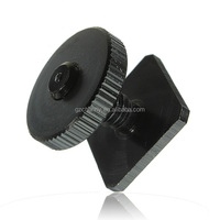 Aluminum Metal Black 1/4-20 Tripod Screw Hot Shoe Mount Adapter to Flash Camera High Quality