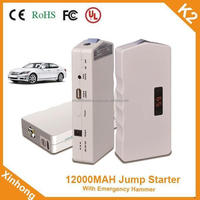 capacity 12000MAH Start current 400A 12v cycle life 1000 times multifunction jump starter for Automotive
