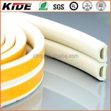 White d shape sponge rubber door seal strip