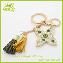 2015 New Hot fashion rhinestone gifts&crafts wholesale keychains custom flower keychain key chains for souvenir