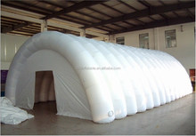 20'L White inflatable PVC arch tunnel tent