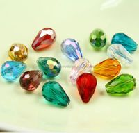 4/6/8/10mm crystal glass teardrop beads for jewelry accessories