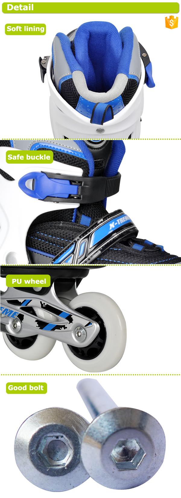 Fabricante atacado direto aluninum chassis roda do plutônio crianças patins em linha com 3 cores