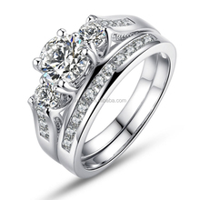 Women Wedding ring set three piece wedding ring sets for women