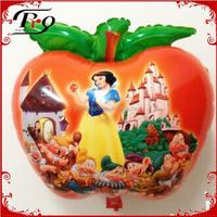 party supplies cartoon balloons white snow princess apple shape balloon