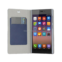 High Quality PU Leather Flip Case For XiaoMi Mi 3 Cover Mobile Phone Accessories