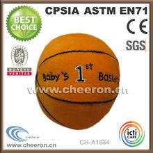 high quality soft stuffed sports ball,stuffed basket ball toys