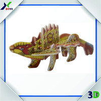 High quality dragon puzzle games,plastic dinosaur toys