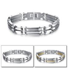 titanium steel mens jewelry chain bracelet multi layer stainless steel bracelet