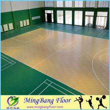 MingBang vinyl used basketball floor mat, pvc floor mat