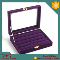 2015 New Ring Display Jewelry Tray Velvet Pad Box