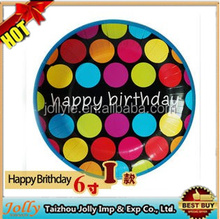 top brand Eco Friendly Round Paper Plate,paper plate set/printing paper plates/custom print napkins custom print paper plates
