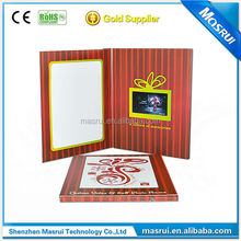 Brand promotional gift 4.3 inch video player brochure electronic brochure printing video cards