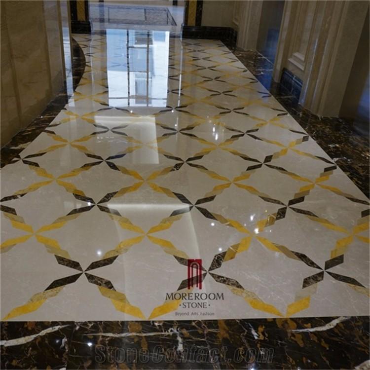Turkey Hacilar Cappucino Beige Marble Laminated Marble Floor Tiles ...
