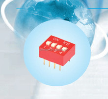2.54 pitch UL94V0 gold plated contact smd dip switch