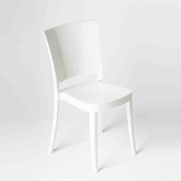 chaise polycarbonate couleur lucienne blanche chaises de salle manger id du produit. Black Bedroom Furniture Sets. Home Design Ideas