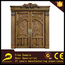 luxury hand carved solid wooden front door design