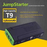 13800mAh Car Jumper Power Bank 12V Jump Starter Battery With Three Led Warning Lights
