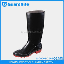 GuardRite Brand Cheap Ladies Fashion Rubber Rain Boots/Rain Boots Made Of Rubber