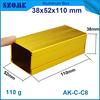 38*52*110 mm diy extrusion aluminum section box aluminium powder coating instrument enclosure electricity driver cabinet