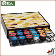 2015 new design K-cup Coffee Pod Storage Mesh Nespresso Drawer holder for Capsules HCGB8576