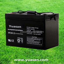 Yuasan Directly Factory Manufacturing Powerful SMF UPS AGM Battery--NP100-12(12V100AH)