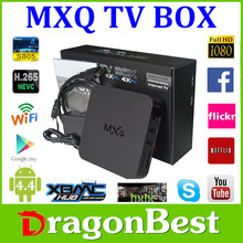 Android box MXQ support 4K 1g ram 8g rom pre-installed XBMC KODI Amlogic s802 Quad Core Android 4.4 Android Tv Box Set Top B