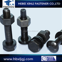 galvanized carbon steel anti-theft hex bolt and nut