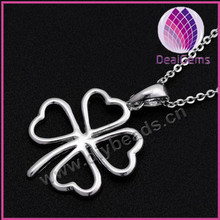 Sterling silver with flower design hope charm pendant