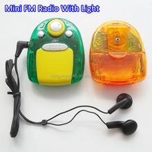 298 Mini FM Cheap Radio With Flashlight