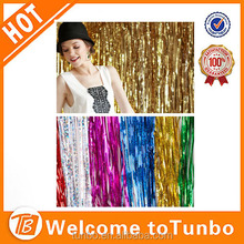 Tinsel Gold Metallic foil curtains for christmas home decoration