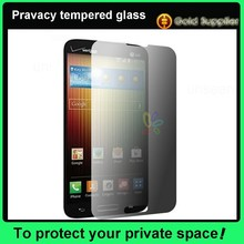 9H hardness 0.2/0.3/0.4mm oleophbic privacy tempered glass screen protector for LG mobile phone