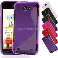 New Soft Silicone TPU Gel S line Skin Back Cover Case For Samsung Galaxy Note i9220 N7000 Case