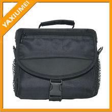 black nylon handy camera bag