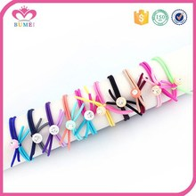 Fashion knot multicolor elastic hair band for girls