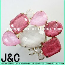 2012 colorful resin stone decorative shoes clips