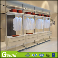 New model durable diy custom made wardrobe baby plastic clothes back wall cloakroom wardrobe pole system