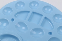 15 round wells frog shaped large size artist oval plastic palette