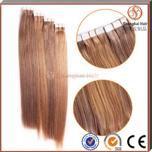 100% Brazilian Persian Remy Mis color hair extensions tape