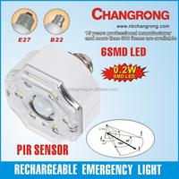 E27 B22 wholesale brightness energy saving rechargeable led bulb