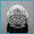 enfriar el material fungible anillo de calavera para los hombres jóvenes