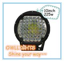 New hotsale!!cars accessories 10 inch 225w LED Offroad Light, 4x4 Jeep Offroad 225w LED Spot Light,225w led driving light