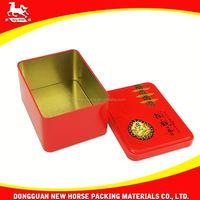 custom printed tin tea box