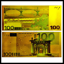 24K Gold Foil Material Art Collectable banknote US Dollar /Euro gold foil banknote