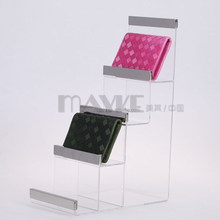Best Price top quality Acrylic and steel Wallet purse handbag display stand